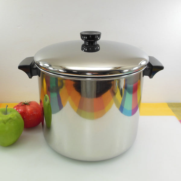 Revere Ware Stainless Tri-ply 8 Quart Tall Stock Pot 1998