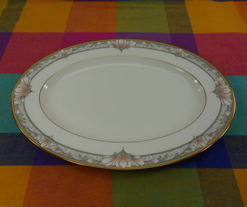 "Noritake Japan Bone China - Barrymore - 14"" Oval Serving Platter 9737"
