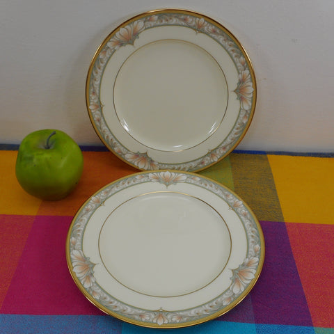 Noritake Japan Bone China - Barrymore - Pair Salad Plates
