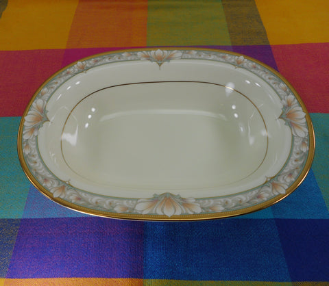 "Noritake Japan Bone China - Barrymore - 10.5"" Oval Vegetable Serving Bowl"