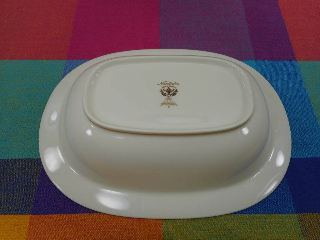 "Noritake Japan Bone China - Barrymore - 10.5"" Oval Vegetable Serving Bowl EUC"