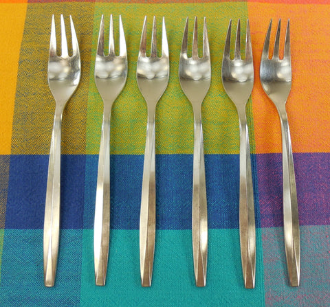 Noritake Japan NTK Stainless Flatware - Harmony Pattern - 6 Dinner Forks 7-1/2""