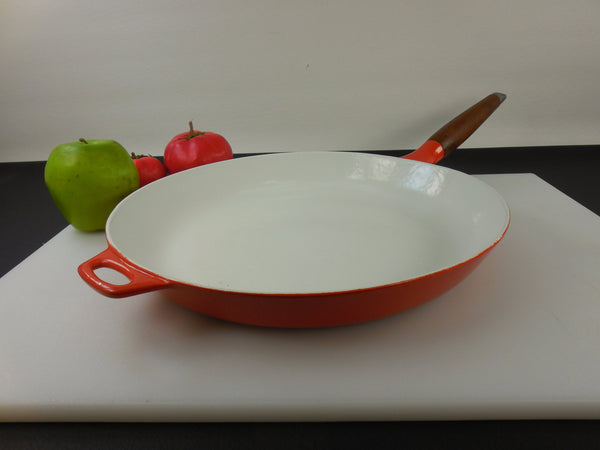 Vintage Copco Denmark Michael Lax - Orange White Enamel Cast Iron