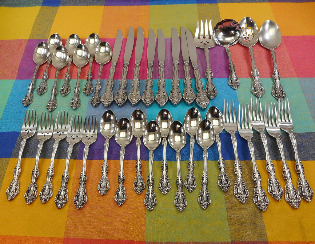 Oneida Heirloom Cube Michelangelo 38 Pieces Stainless Flatware
