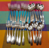 Oneida Community Paul Revere Stainless Flatware 29 Pieces Spoons Forks