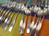 Oneida Community Paul Revere Stainless Steel Flatware 29 Pieces Spoons Forks