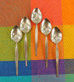 Oneida Community - SATINIQUE Older - Stainless Flatware - 5 Place Table Spoons