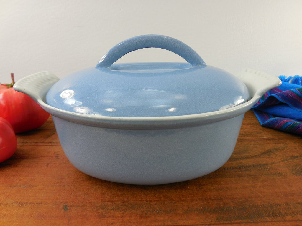 Cast Iron Enamel Oval Small Roaster Casserole Pot Lid - 4 Leaf Club Clover Maker Mark