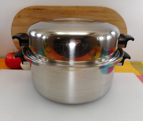 Deluxe Permanent USI Stainless Steel 6 Quart Soup Stock Pot with Poach Egg Insert