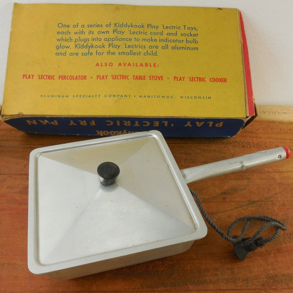 Vintage Kiddykook Play 'Lectric Child's Fry Pan Electric Skillet - Out of Box View