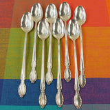 Rogers Silverplate PRECIOUS MIRROR - 8 Set Iced Tea Spoons - Silver Plate Flatware