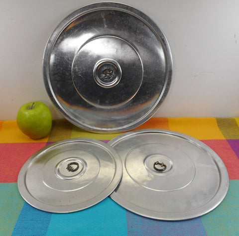 "Pure Aluminum USA 3 Set Lids Pot Pan Covers D Handle 8"", 10"", 11-1/2"""