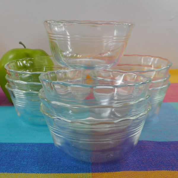 Pyrex Glass USA 10 Set #463 Custard Cups Dish 175 ml 6 oz.