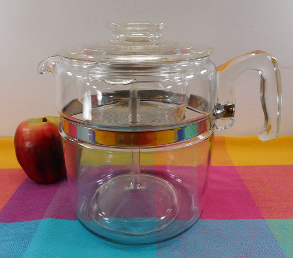 Pyrex Flameware Glass 9 Cup Coffee Pot Percolator EUC Vintage