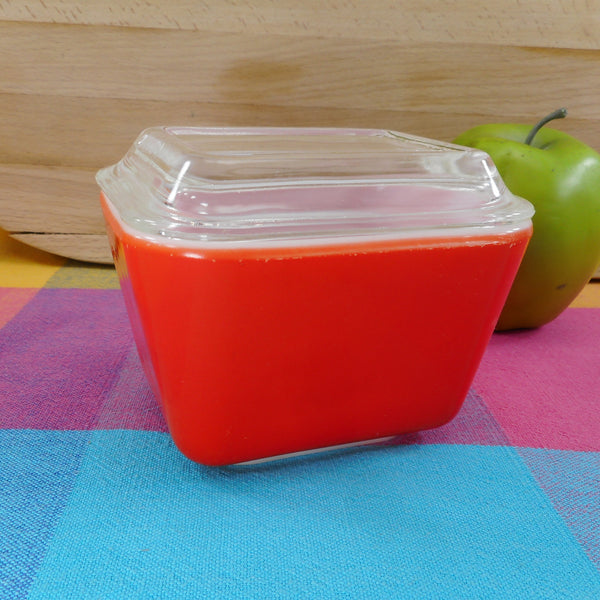 Pyrex Glass Refrigerator Dish - Solid Red #501 Small Size 1-1/2 Cup