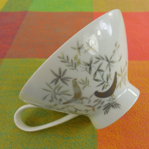 Rosenthal Germany - 1960s Raymond Loewy - Birds On Trees - Coffee Tea Cup