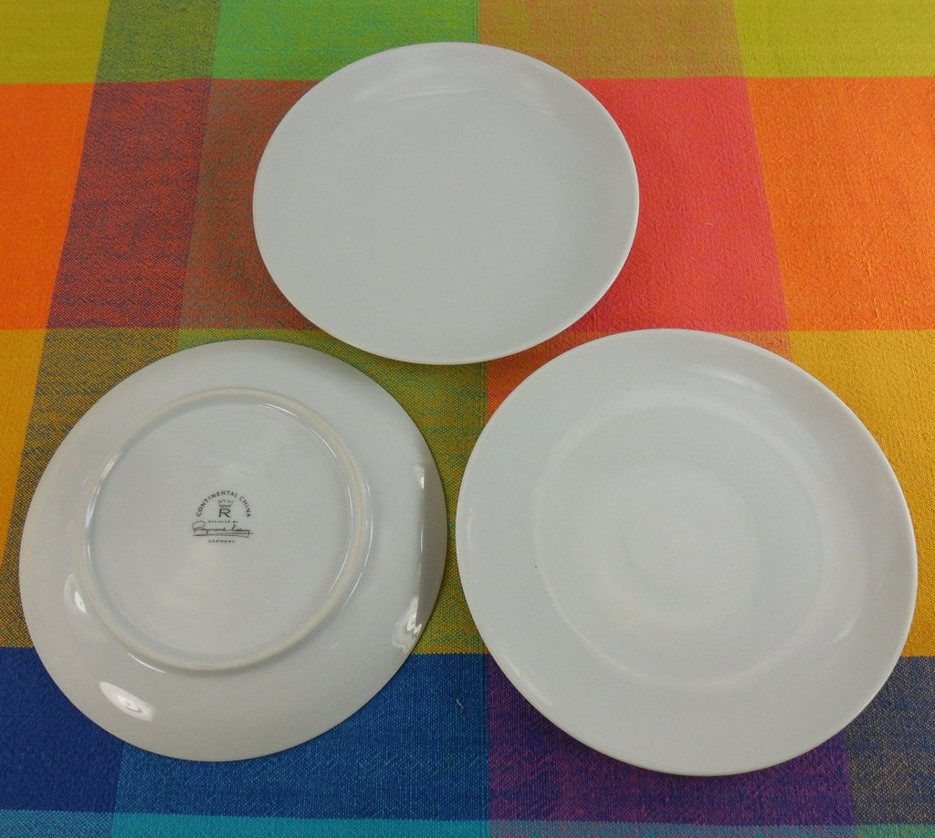 "Raymond Loewy - Rosenthal Continental China - 6"" Solid White Bread Plates"