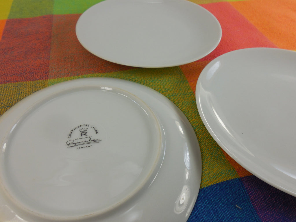 "Raymond Loewy - Rosenthal Continental China - 6"" Solid White Bread Plates logo"