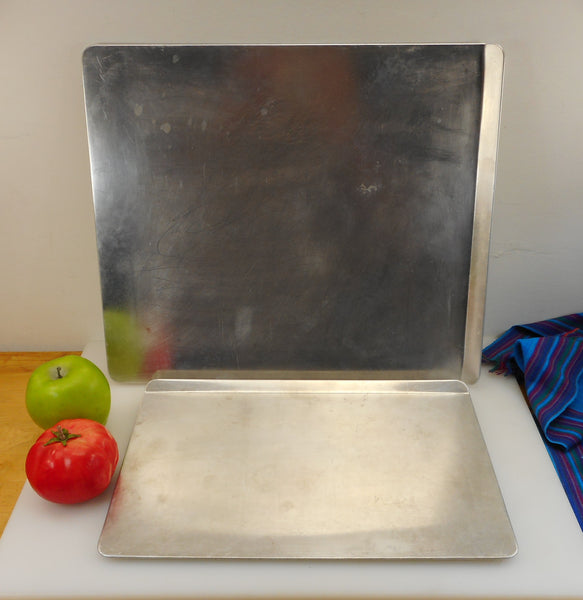 "Rema Pair ""Air Bake"" Insulated Cookie Sheets... 9.5 x 14 and 14 x 16... Used Aluminum Vintage Bakeware"