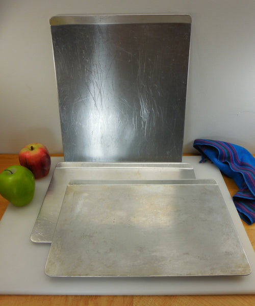 "SOLD... Rema 3 ""Air Bake"" Insulated Aluminum Cookie Sheets - 9x14 12x14"
