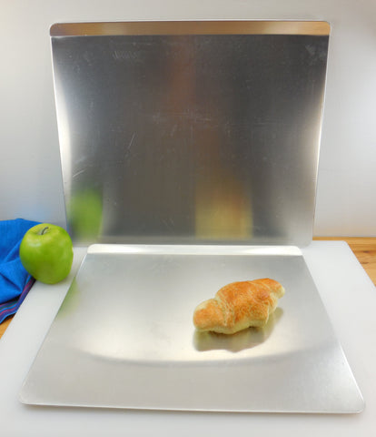 "Pair Rema ""Air Bake"" Insulated Cookie Sheets... 12 x 14 and 14 x 16... Clean Aluminum Vintage Bakeware"