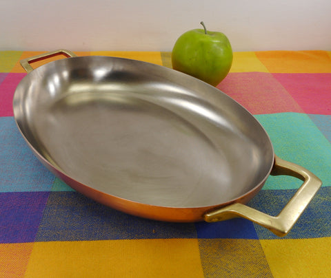 Paul Revere Ware Signature Collection 1776 1976 Limited Edition - Lg. Oval Au Gratin Pan Copper Stainless Brass