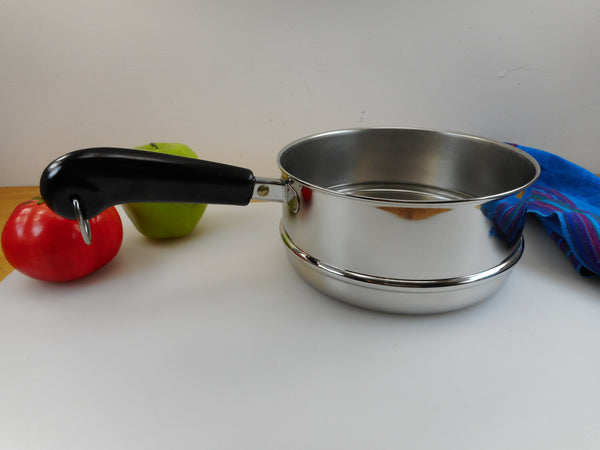 SOLD... Revere Ware Double Boiler Insert for 2 & 3 Quart Saucepans Pots - Vintage Stainless Cookware