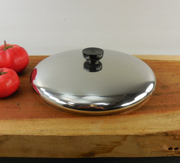 "SOLD... Revere Ware Stainless Replacement Lid - 10"" - for 6 Quart pot & 10"" Skillet Pan"