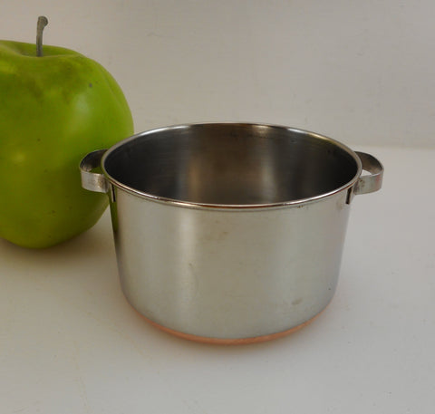 Revere Ware Mini Toy Size Stock Pot - Vintage Stainless Copper Play Cookware