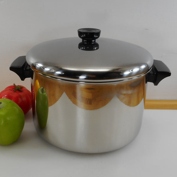 Revere Ware 6 Quart Stock Pot - 1997 Tri-Ply Disc Bottom Stainless Steel