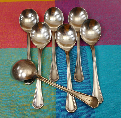 Reed & Barton Silverplate Ritz Carlton Hotel Round Soup Spoons Covelly Pattern