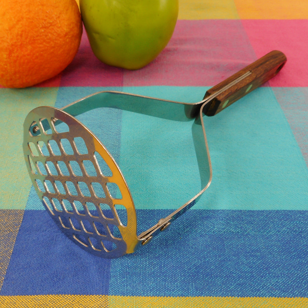 Sold Robinson Usa Stainless Potato Masher With Dark Wood Handle Olde Kitchen Home