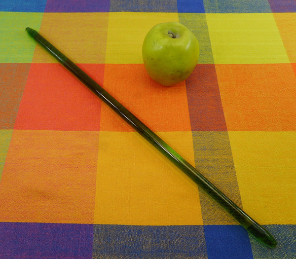 Glass Towel Bar Rack Rod - Replacement Vintage Clear Emerald Green 19""