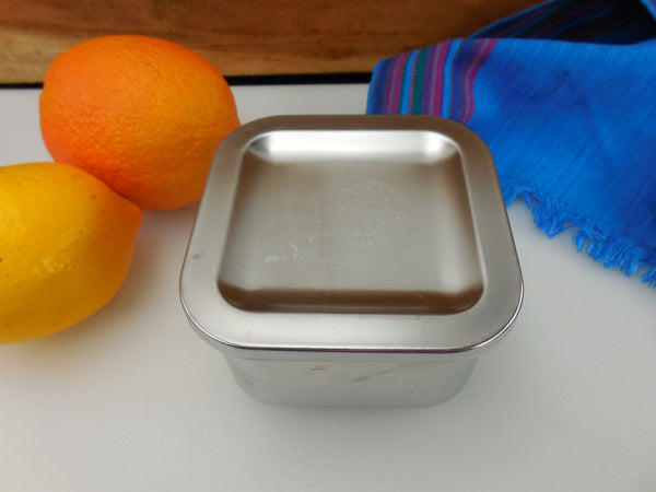 "Revere Ware Small 4"" Stainless Refrigerator Lidded Dish"