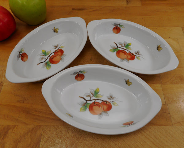 "Sadek Andrea Fruit Butterflies Oven To Table Porcelain Cookware - Trio 8"" Au Gratin Dishes"
