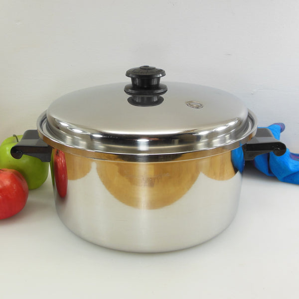 Saladmaster USA T304S Stainless Steel 6 Quart Stock Soup Pot Vapo Lid