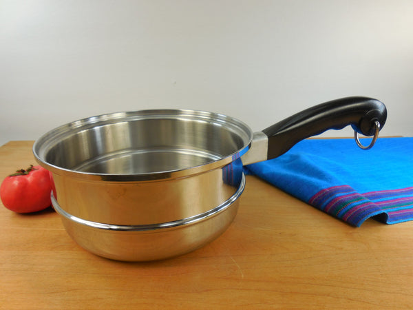 "Saladmaster Stainless 8"" Saucepan Steamer Insert with Handle"