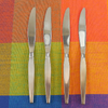 Oneida Community - SATINIQUE Older - Stainless Flatware - 4 Dinner Knives