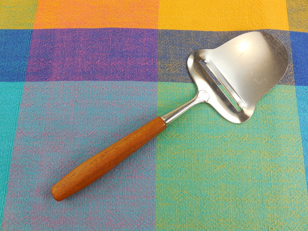 SOLD Selandia Norway - Hand Cheese Butter plane Slicer... Teak 18-8 Stainless Steel - Mid Century Modern