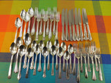Vintage Mismatched Silverware Silverplate Set - Service for 8