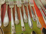Vintage Mismatched Silverware Silverplate Set - Service for 8 - View 7