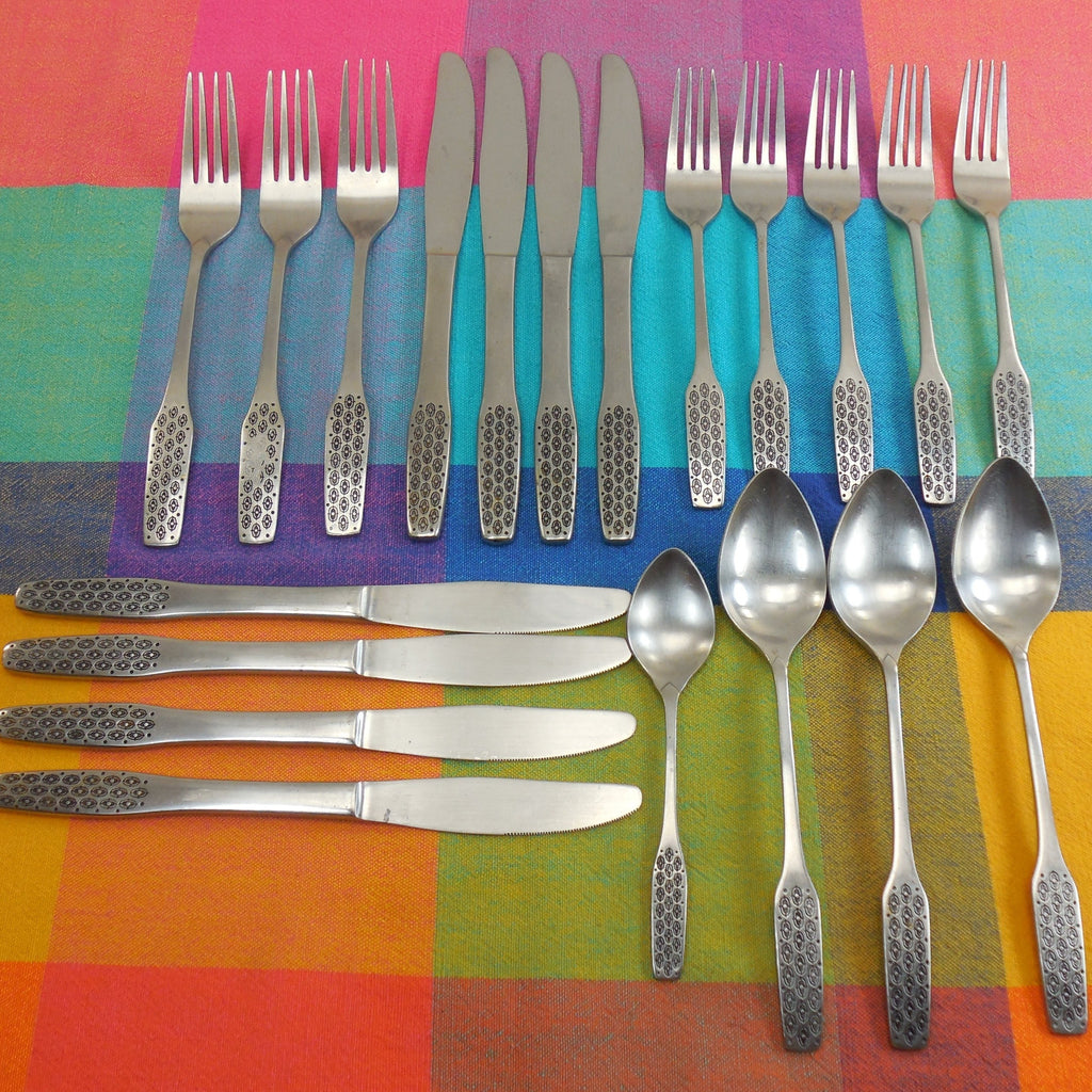 Viners Empire - Shape Pattern Stainless Flatware 20 Piece lot -  Spoon Fork Knives