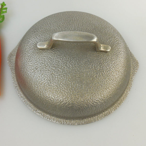 "Silver Seal Metal Craft Replacement Lid 7""... for Skillet Pot - Hammered Texture Aluminum Used Cookware"