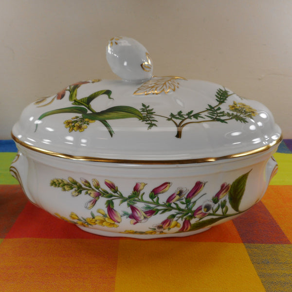 Spode England Porcelain Stafford Flowers Oval 2 Quart Oven To Table Lidded Casserole