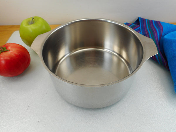 Letang & Remy France Triplinox 1980s Stainless Cookware 2 Quart Sauce Pan Pot - No Lid or Handle