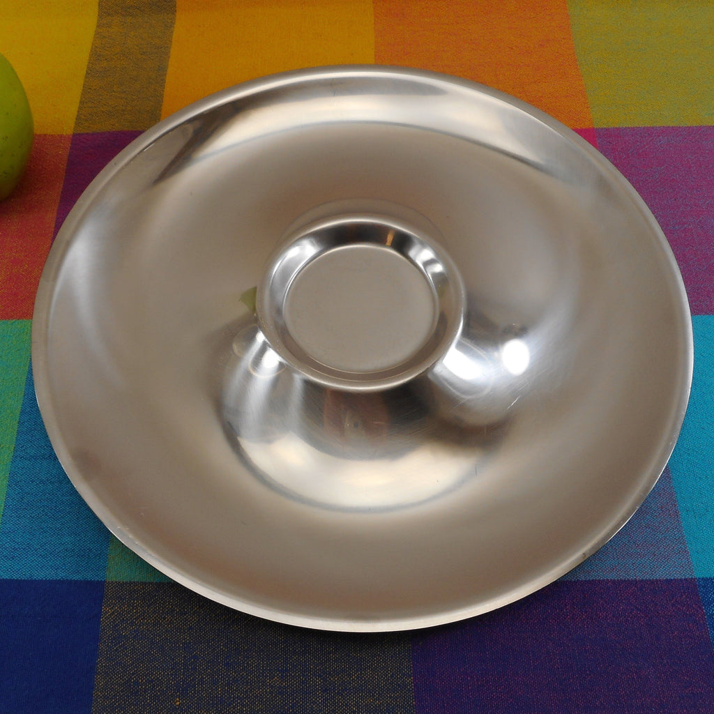 "Unbranded Denmark 18-8 Stainless Steel Chip Dip 12"" Platter - No Bowl"