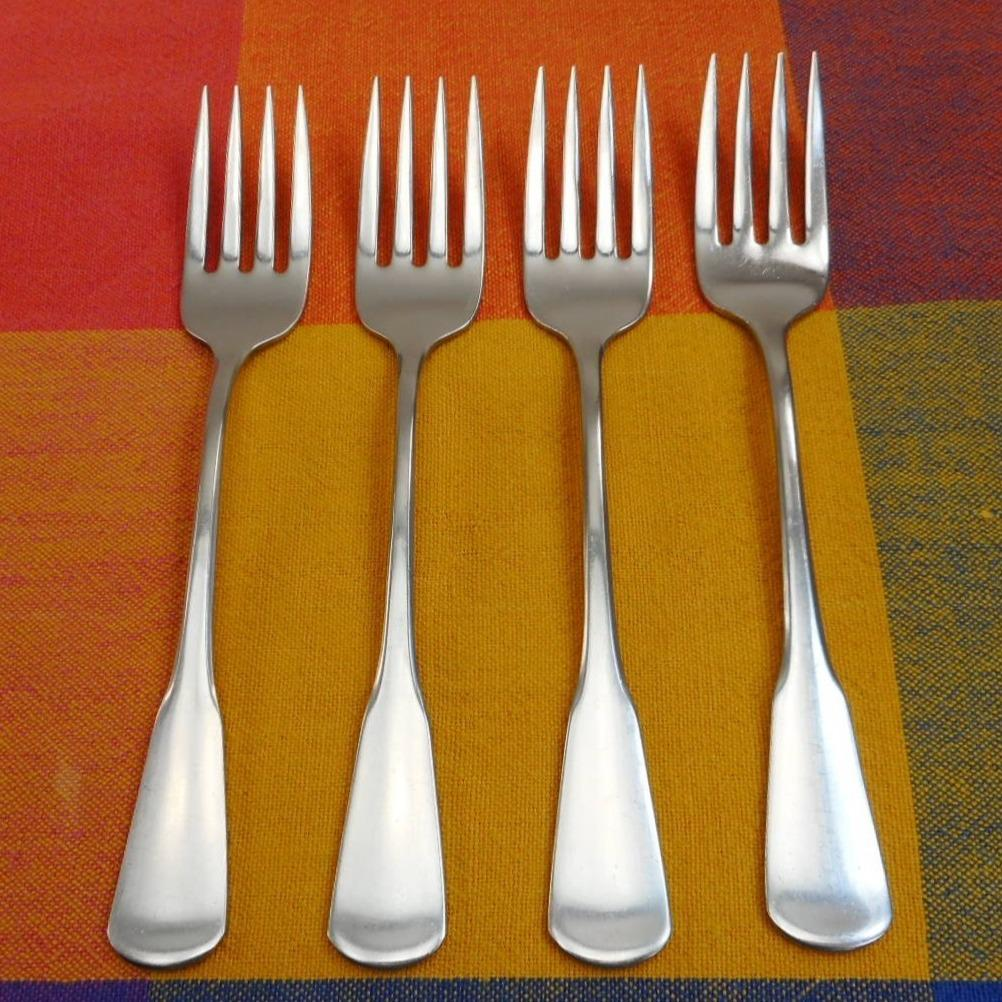 """10 Salad Forks ONEIDA COLONIAL BOSTON Minute Man SSS Stainless 6 3//4/"""""""