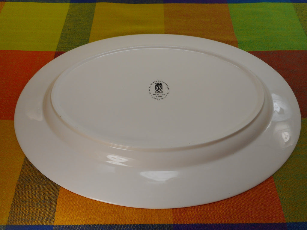 "St Andrews Signature White Bone China - 15"" Oval Platter Tray EUC"