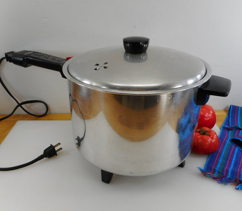 Sunbeam 1950s Electric Deep Fryer Slow Cooker #8402 Long Handle