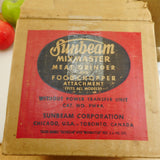 Sunbeam Mixmaster Mixer Attachment FW6A Meat Grinder Food Chopper in Box Vintage